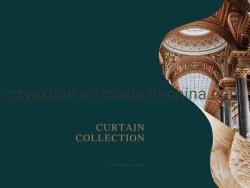 Groothandel kwaliteit luxe atmsphere Italiaanse stijl dikke Chenille Borduurwerk Laatste Raam gordijn voor woonkamer