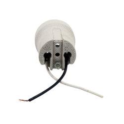 Zoccolo di lampada chiaro di ceramica del supporto della lampada del Edison dello zoccolo di E26 E27