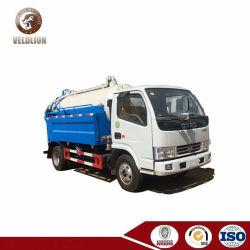 Vrachtwagens van het Riool van het Uitwerpen van de Riolering van de Meter van Dongfeng de Kleine 3 Kubieke VacuümZuiging Gecombineerde Schoonmakende Zuigende