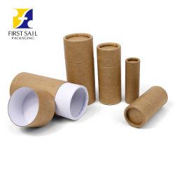 De Vriendschappelijke Materiële Ronde Verpakking van uitstekende kwaliteit van de Buis van het Karton van de Buis van het Document van Kraftpapier van de Cilinder Eco