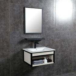 Venta caliente colgado en la pared de color de la vanidad de baño de aluminio con estante (60C)