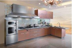 유리 페인트 아크릴 스테인리스 스틸 프로젝트 아름답고 현대적인 주방 캐비닛