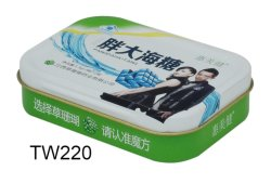 Rechteckiger Tee-Zinn-Kasten mit preiswerterem Preis