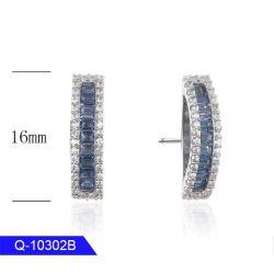 أحدث طراز مجوهرات الموضة 925 Sterling Silver أو Brass CZ حلقات الأذن للفتيات