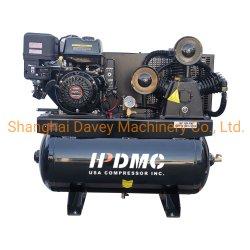 10HP Gas Powered Compressor de Ar, 3 cilindros, 24 cfm @ 180 psi, Sistema de Ar Comprimido do Pistão com 30 Galões Tanque Aema motor NEMA
