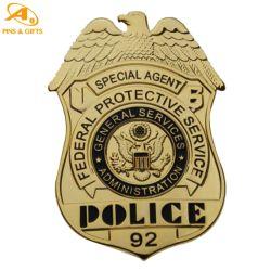 視覚障害者のためのセキュリティのためのロゴの技術の黄銅のブローチ カスタマイズされたメタルバッジのモデルプレーンギフトメーカー
