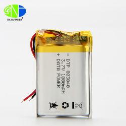 Il natale a pile Dtp803040 1000mAh di Dtp 3.7V illumina il ciclo della batteria