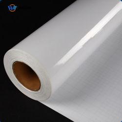 Forte revestimento adesivo transparente de plástico para impressão jato de tinta de PVC Filme de sobreposição com cola para cartão de plástico
