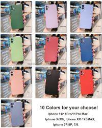 Cor diferente de Silicone Telefone móvel caso todos os modelos de Smart Cell Phone Casos de sua escolha
