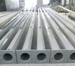 Hot-DIP Pole aussondern/doppeltes galvanisiertes Aluminiumsolarstraßenlaternedes stahl-LED/Beleuchtung-Pfosten