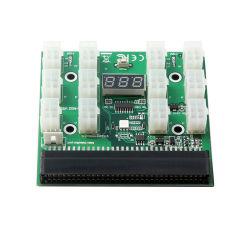 12 * Pcie 6pin de Raad van de Doorbraak van de Levering van de Macht PSU gelijkstroom 12V met LEIDENE Digitale Vertoning voor 1200W1000W 750W GPU Mijnbouw