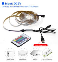 텔레비젼 역광선 PC 스크린 배경 점화를 위한 5V LED 지구 빛 USB 2835SMD RGB 다이오드 테이프 0.5m 1m 2m 3m 유연한 네온 리본