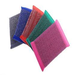 Очень простой в использовании исправление одноразрядных ошибок коврик из нержавеющей стали глянцевая поверхностей губкой потрите губкой для мытья, используемые в кухонные чистящие средства