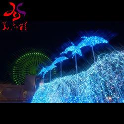 Comércio exterior festival férias Decoração de Natal Golfinhos Luzes Motif Dança de música