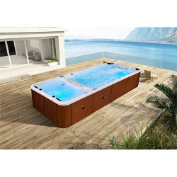 Mexda Hot Sale 6 Meter Whirlpool Schwimmbad Mit Massage Jets Whirlpool endlosen Pool WS-S06