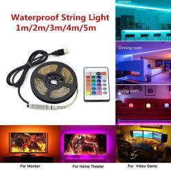RGB 5050 SMD 2835 ruban souple Fita Bande LED lumière 5m 10m 15m bande diode avec alimentation 12v Commande à distance