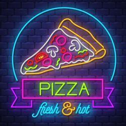 屋内および屋外のドアの壁ライトピザを広告する豊富な色 ネオンサイン