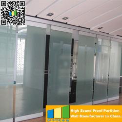 Muur van de Verdeling van het Glas van het Bureau Tranparents van Frameless van Ebunge de Enige