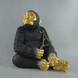 3Dゴリラのサル猿の動物の樹脂冷却装置磁石の置物、Polyresinのクラフト
