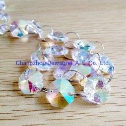 다채로운 색상의 램프 프리즘 Octagon Bead 샹들리에 유리 크리스털 장식 부품 펜던트 걸이 드롭스