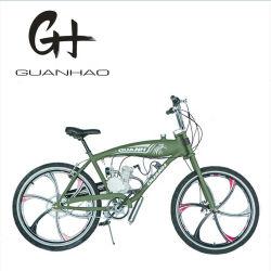 Dois tempos 80cc motor a gasolina do tanque de gás Mopped bicicleta motorizada