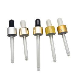 10ml 20ml 30ml 50ml 100ml flacon compte-gouttes en verre de couleur brillante en verre cosmétiques huile essentielle de l'or compte-gouttes pour bocal en verre