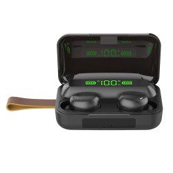 Auricolari Bluetooth TWS Sport personalizzati cuffie stereo con microfono 5.0 Display digitale capacità della batteria ricarica wireless auricolari Bluetooth