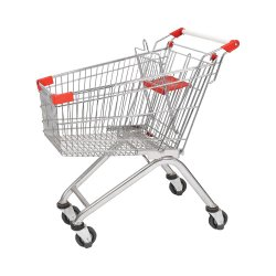 Carrefour-Supermarkt-Entwurfs-Qualitätslebensmittelgeschäft-Einkaufswagen-Laufkatze (JS-TEU03)