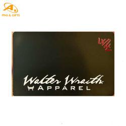 Venda por grosso de etiqueta RFID personalizadas barato cortados a laser em branco Nome de metal do cartão de negócios