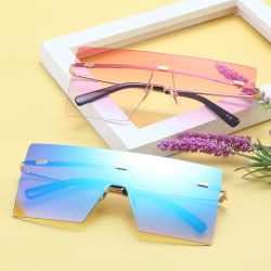 2020 Novo Design de Moda Mulheres Grandes Vintage da estrutura de óculos de sol por grosso