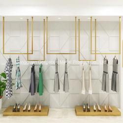 豪華な小売りの衣類の店の家具の衣服の金属は陳列だなに着せる