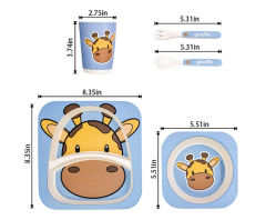 Kind-teilte gebrochener Platten-Antisetzer, den Partei 2 Fach-Kinder zur Verfügung stellt, biodegradierbare Platten-Löffel-Cup-Set-Wegwerftafelgeschirr