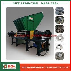 Trinciatrice di riciclaggio di plastica del documento di legno di metallo della gomma delle due aste cilindriche