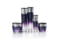 Frasco de vidro Roxo elegante embalagem para cuidados com a pele jarra de cosméticos