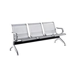 Fabricante de acero Hospital Aeropuerto Presidencia sala de espera sillas Sillas de oficina Mobiliario de casa moderna de Metal Asientos al aire libre Jardín silla silla