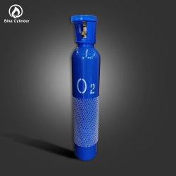 Fabriqué en Chine 40L de haute pureté vanne en laiton sans soudure en acier de l'oxygène bouteille de gaz médicaux les vérins d'oxygène