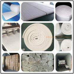 25mm 50mm 64 / 96 / 128 kg di densità silicato di allumina Fibra termica refrattaria isolamento termico anti-incendio 1260c ignifugo Coperta in fibra di ceramica in cotone