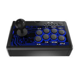 جهاز PS4 7 في 1 لعبة القتال مع عصا التحكم ألعاب Playstation 4 Fight Stick تدعم PS3، PS4، Xbox360، Xbox One