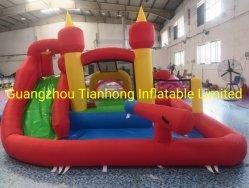 4.1X3.85 متر للأطفال الفناء الخلفي للقوارب الشراعية قلعة القفز مع حمام سباحة كومبو