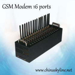 GSM GPRS 전산 통신기 16 항구, Q24plus 의 850/900/1800/1900 MHz를 가진 지원 SMS+MMS+TCP+Edge