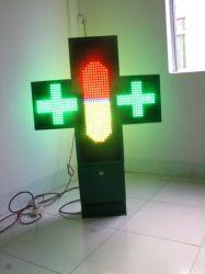 RGB 디스플레이 사인 양면 LED 약국 교차 공장