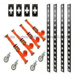 حزمة نظام X-Track Cargo Organizer PRO لنظام الحمولة الذكي - أسود غير لامع الفولاذ - 667 رطلاً - يبلغ طول 5 أقدام