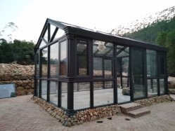 Tubo Quadrado de alumínio no exterior e tubo redondo coluna pode ser personalizada com vários grãos de madeira de Pulverização