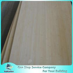 Multi-Ply 12mm Natural Edge Grain Bamboo Board para móveis / Worktop / Floor / Skateboard