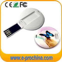 Slim tarjeta estilo redondo disco de memoria Flash USB (EC014)
