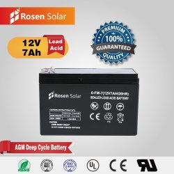 De Batterij van het Gel van Rosen 12V 7ah die als ZonneBatterij wordt gebruikt