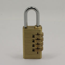 4 مزولة قرص نحاس أصفر يقفل إدماج رمز تعقّب هويس كلمة سرّ [بد لوك] (110284)