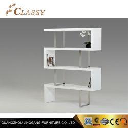 現代白いラッカー居間の本箱の棚