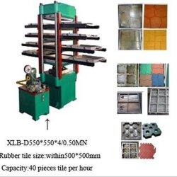 ゴム製タイル張りの床の作成のためのXlb550油圧出版物のゴム製機械