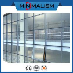 Aluminiumzwischenwand mit abgehärtetem lamelliertem Glas für wärmeisolierendes